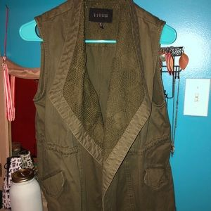 Women's Olive Green Utility Vest